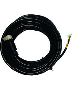 Sensorkabel 10 m, met M12-connector, open aders, AWG24 (0,2 mm2)